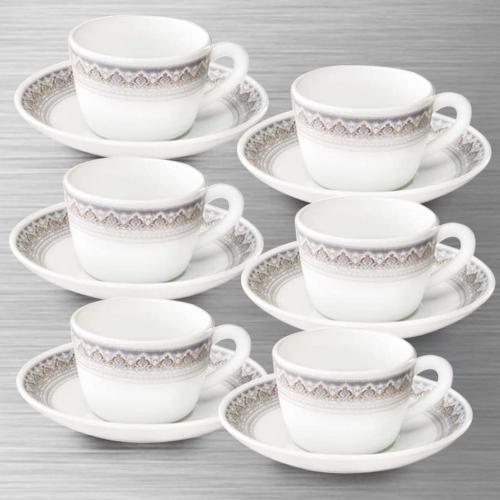 Fabulous Larah by Borosil Classic Cup and Saucer Set