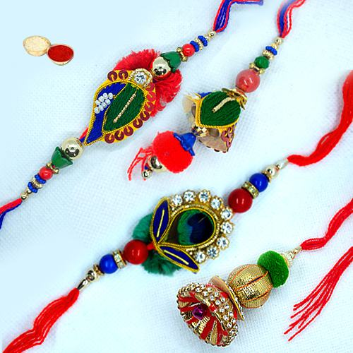 Breathtaking Set of 2 Rakhis