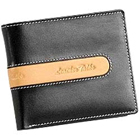 Send Suave and Formal Looking Genuine Leather Men's Wallet in Black and Brown from Leather Talks to Kerala