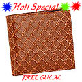 Light Brown Shaded Genuine Leather Mens Wallet from Leather Talk with free Gulal/Abir Pouch