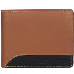 Dashing Brown Coloured Longhorn Gents Leather Wallet