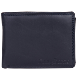 Fashionable Gents Leather Wallet in Black and Red Colour from Longhorn