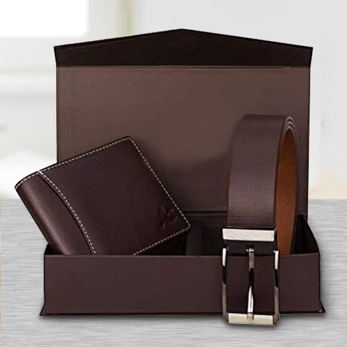 Elegant Set of Wallet and Belt