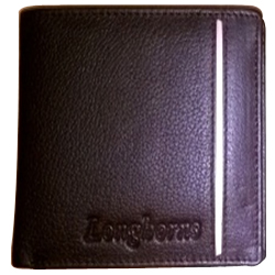 Beautiful Black Coloured Gents Leather Wallet from the House of Longhorn