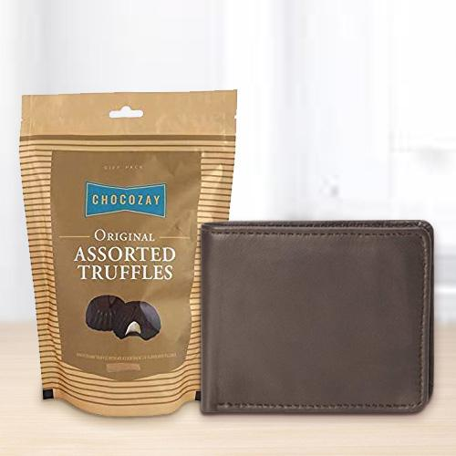 Rich Borns Gents Wallet with Assorted Truffle Chocolates