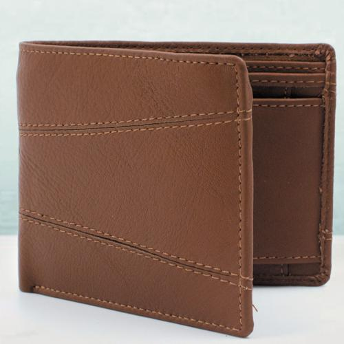Impressive Brown Color Mens Leather Wallet