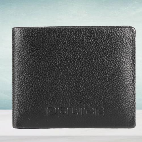 Alluring Police Brand Mens Leather Wallet in Black