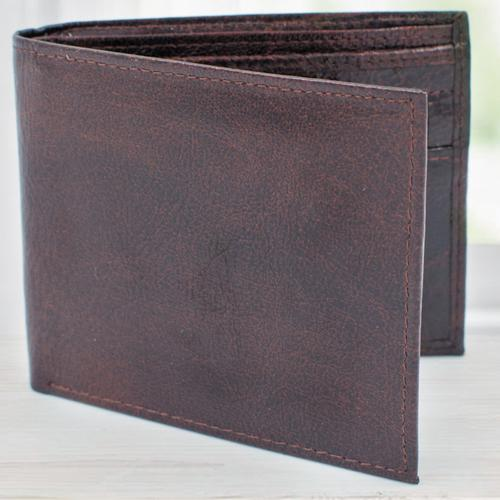 Lovely Dark Brown Mens Leather Wallet