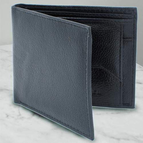 Wonderful Black Color Leather Wallet for Men