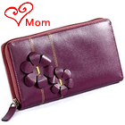 Breathtaking Flowery Styled Genuine Leather ladies Wallet in Purple from Leather with Passion