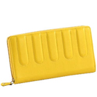 Genuine Leather Ladies Wallet in Yellow from Leather Talks