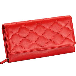 Send Red Leather Ladies Wallet from Leather Talks