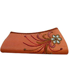 Impressive Stone Studded Floral Designer Clutch for girls