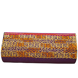 Gift Leather Clutch Bag in Purple for Ladies