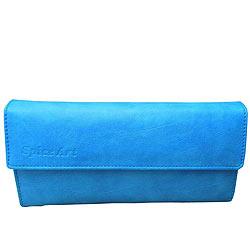 Appealing Spice Art Blue Wallet for Women