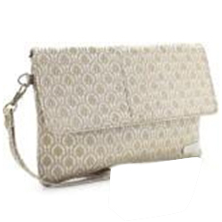 Appealing Ladies Handbag in Off White Colour Presented by Murcia