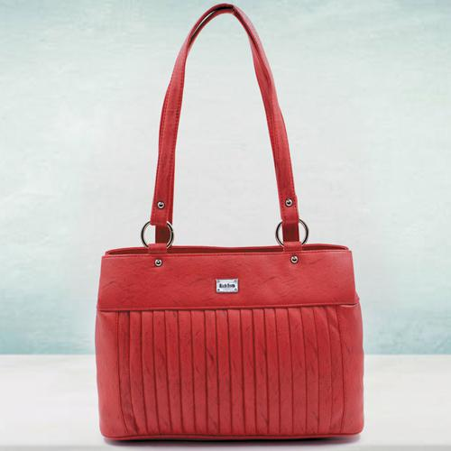 Exclusive Red Color Leather Vanity Bag for Ladies