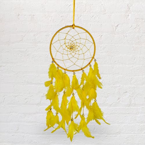Handcrafted Beaded Dreamcatcher Feng Shui Showpiece