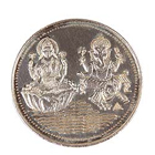 Send Pure Lakshmi Ganesh Silver Coin to Kerala
