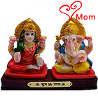 Classic Lucky Lakshmi Ganesha Gift Statue with Happiness