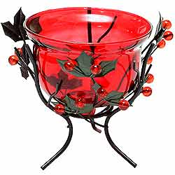 Send Red Wrought Iron Candle Stand Gift