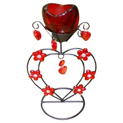 Online Red Wrought Iron Candle Stand Gift