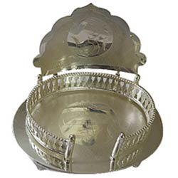 Wonderful Silver Plated Mandir Case