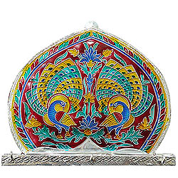 Deliver Meenakari designed Wall Key Hanger