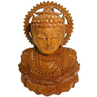 Astonishing Hand Carved Wooden Buddha