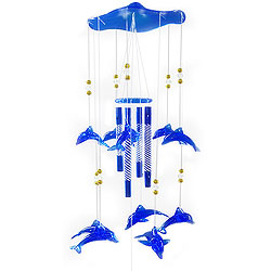 Beautiful Blue Dolphins Wind Chime