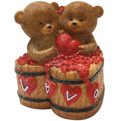Mesmerizing Couple Teddy with a Heart