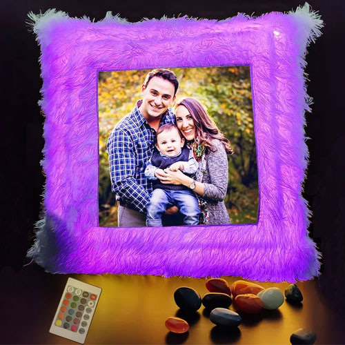 Online Send Personalized LED Cushion