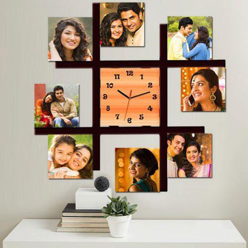 Wonderful Square Shaped Personalized Photo Wall Clock
