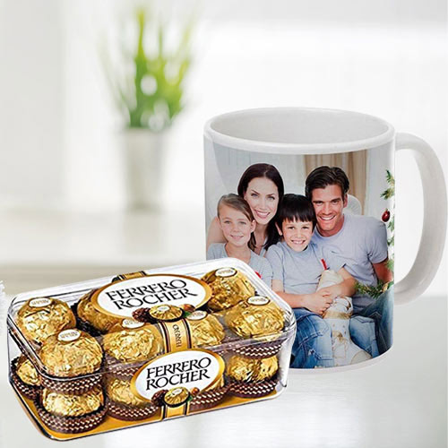 Best Personalized Coffee Mug with Ferrero Rocher Chocolates