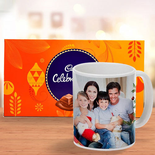 Online Personalized Coffee Mug with Cadbury Celebrations Pack