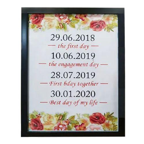 Elegant Date Frame