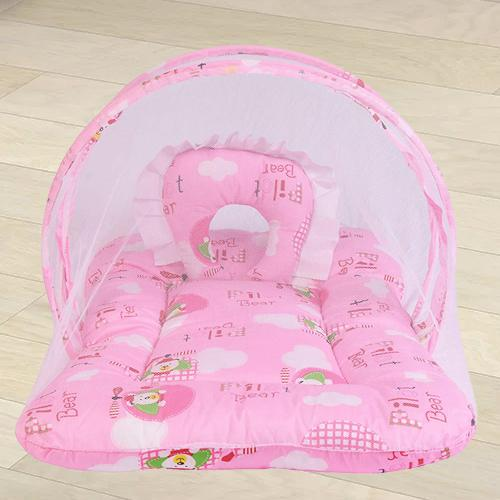 Exclusive Pink Mattress with Mosquito Net