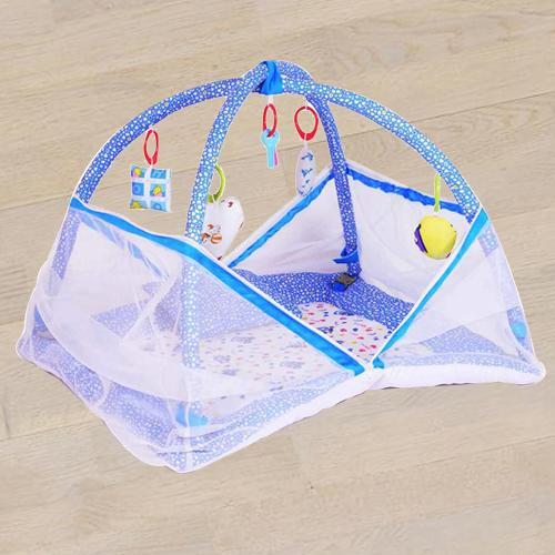 Marvelous Kick and Play Gym with Mosquito Net N Bedding Set