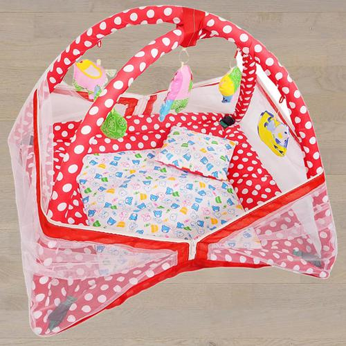 Fancy Mosquito Net with Kick and Play Gym N Bedding Set