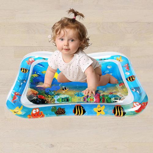 Marvelous Inflatable Water Tummy Time Playmat for Babies