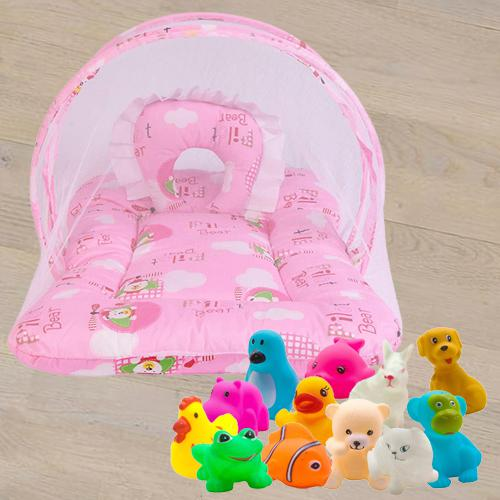 Marvelous Mattress with Mosquito Net N Animal Water Toys<br><br>
