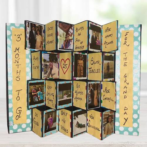 Exclusive Pop Up Personalized Zig Zag Card
