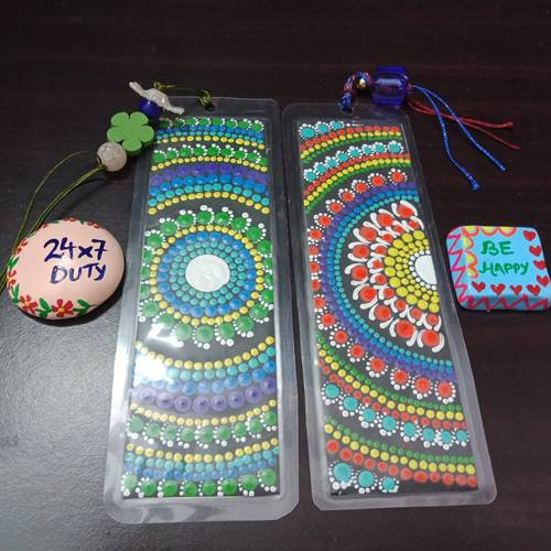 Exclusive Dot Mandala Art Bookmarker n Fridge Magnets