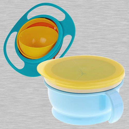 Marvelous No Spill Gyro Bowl N Baby Feeding Bowl