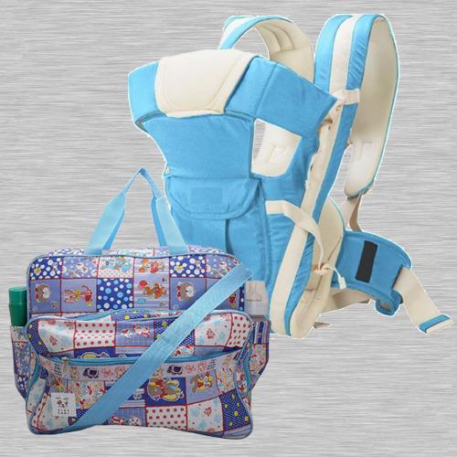 Marvelous Compartment Bag N Baby Carrier Cum Kangaroo Bag<br><br>
