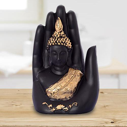 Auspicious Golden Handcrafted Palm Buddha
