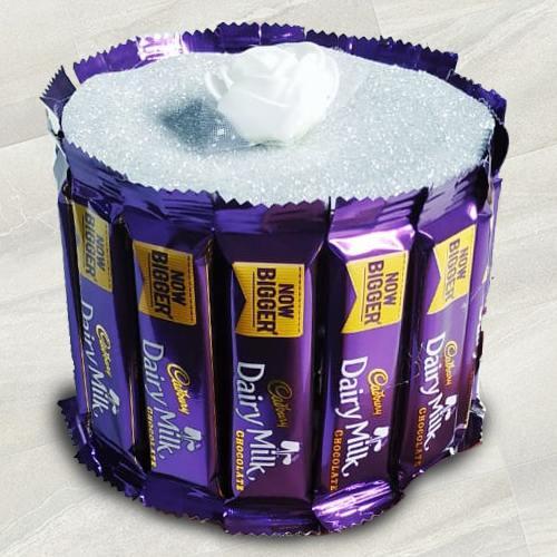 Marvelous Arrangement of Cadbury Dairy Milk Chocolates
