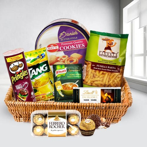 Lovely Heart Healthy Snacks Gift Basket