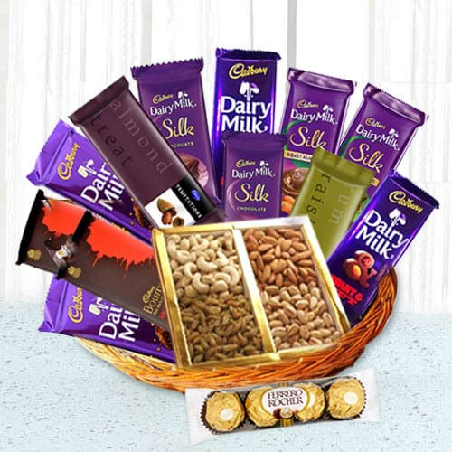 Chocolates with Dry Fruits Gift Hamper for Mothers Day