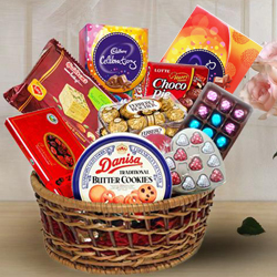 Delicious Chocolate Assortment Hamper Basket